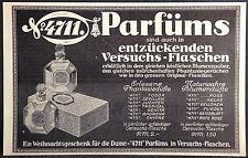 Parfüm 4711,Tosca,Rote Rose in Versuchsflaschen,Köln,orig.Anzeige 1929