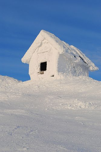 A snow covered shed on a -34C or -29F day in Åre, Sweden ~ Photo by...Eea Saarela. Where Eric Northman was last scene of 2013 Season !!!!!1