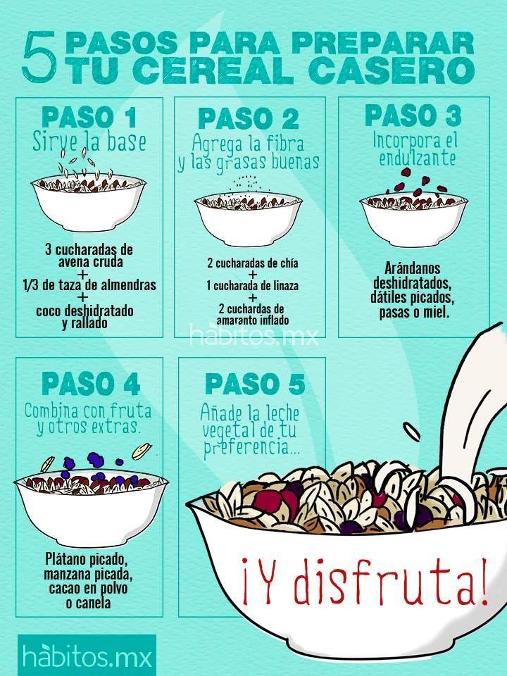 Hábitos Saludables | ¡5 pasos para preparar tu cereal casero!