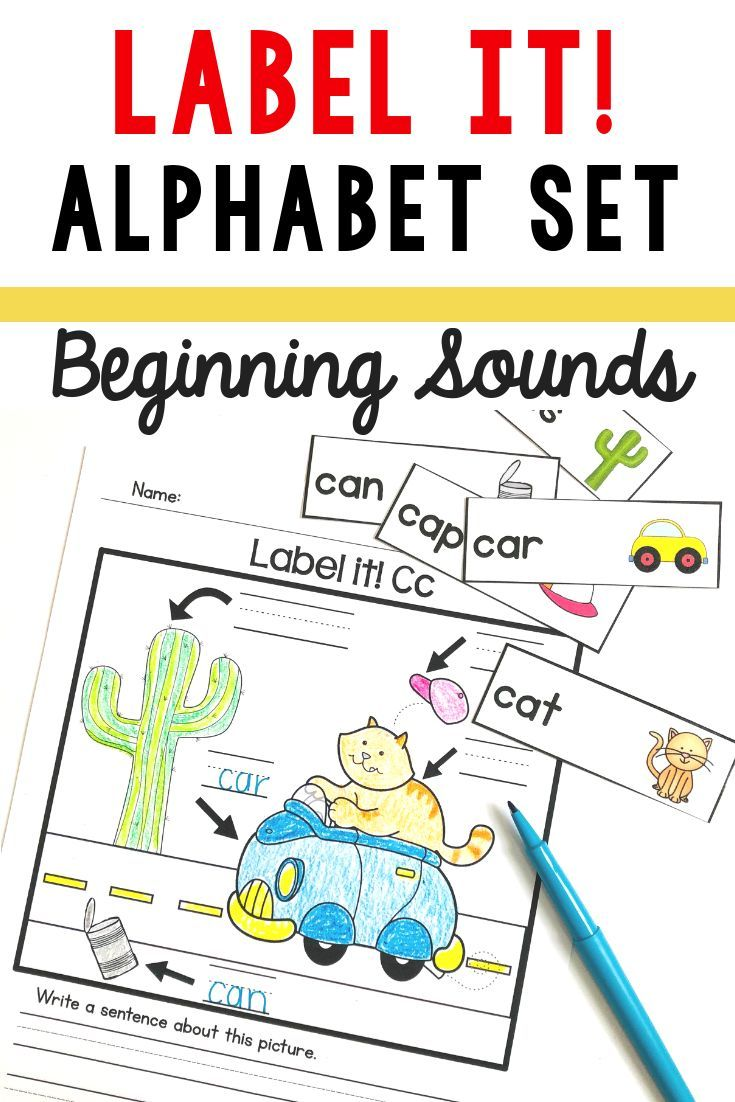 Teaching Beginning Sounds In Kindergarten Or First Grade Add These Printable Labeling Workshee Kindergarten Worksheets Labeling Kindergarten Beginning Sounds [ 1102 x 735 Pixel ]