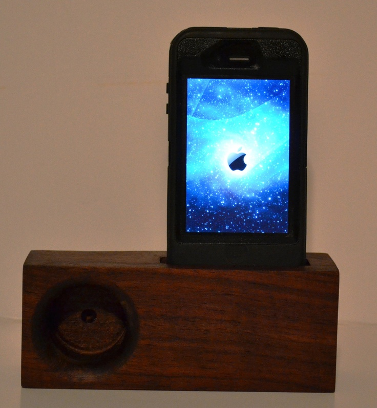 Walnut Wood iPhone Music Amplifing Stand by n8r76 on Etsy