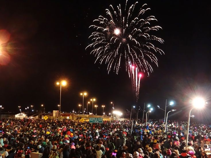 New Year's Eve in Punta Arenas, Patagonia, Chile