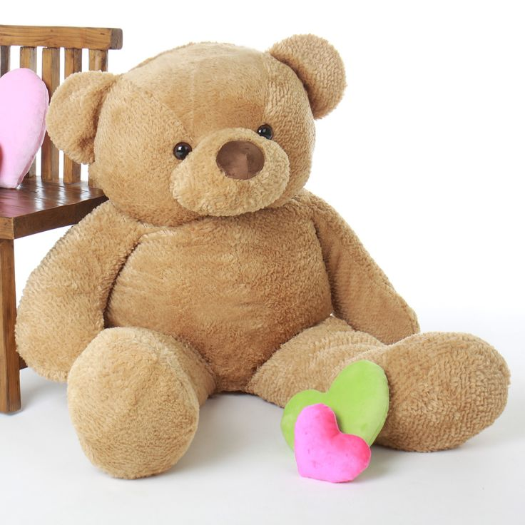 Giant Teddy - Cutie Chubs Adorable Life Size Jumbo Amber Teddy Bear 48in, $95.99 (http://www.giantteddy.com/cutie-chubs-adorable-life-size-jumbo-amber-teddy-bear-48in/)