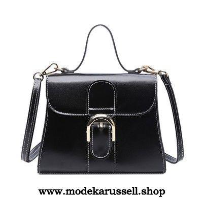 Damen Handtasche Schulter Tasche in Schwarz