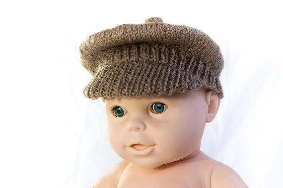 INSTANT DOWNLOAD Knitting Pattern, PDF, Newsboy Cap, Brimmed Cap, Baby Boy Hat, Knitting Pattern on Etsy, $3.82