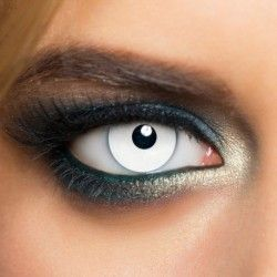 White Mini Sclera Zombie Effect Halloween Colored Contact Lenses (Daily)