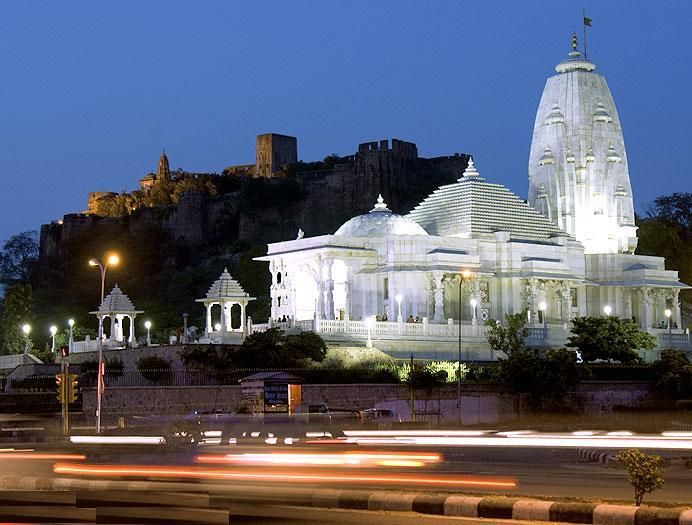 #LakshmiNarayanTemple : Set inside of the south of #Jaipur, this is one amongst the different such sanctuaries designed by flush #Birla family in Asian nation, so it's conjointly alluded to as #BirlaMandir. The sanctuary may be a decent indication of the laic conventions Asian nation has appeared throughout the hundreds of years. The sanctuary is set at the foot of #MotiDoongri Fort, conceived again as alittle castle by Ram Singh II for his accomplice Gayatri Devi. Night keep in #Jaipur.