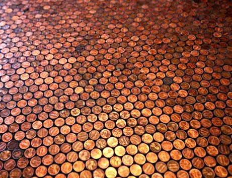 This has got to be the least expensive flooring per square foot.Expensive Floors, Expen Floors, Pennies Floors