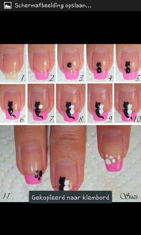 Katjes op je nagels (met uitleg!!)