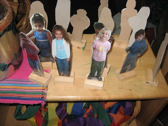 Photos of the children / staff for use in small world play / construction.