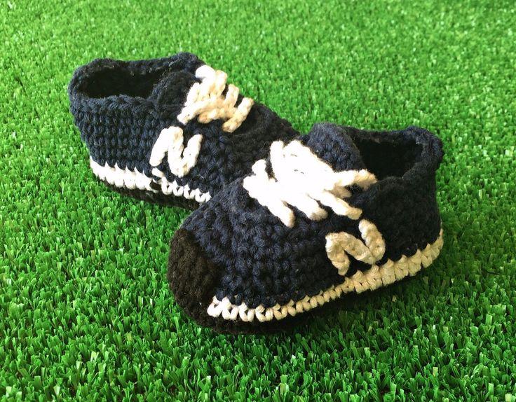 Zapatos bebe crochet, ganchillo tallas 8,5cm - 9,5cm - 10,5cm estilo New Balance | Bebés, Ropa, calzado y complementos, Calzado | eBay!