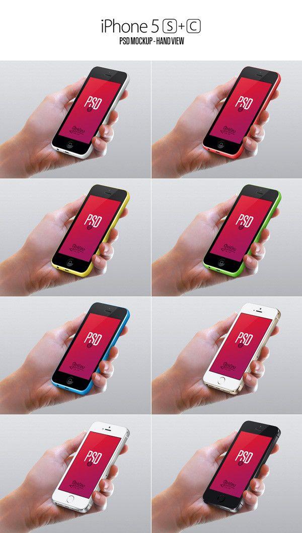 Iphone 5S & 5C MockUp | GraphicBurger