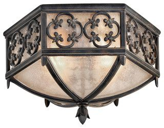 Costa del Sol Outdoor Flush Mount, 324882ST - traditional - outdoor lighting - by Masins Furniture