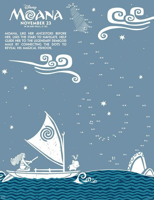 Free Printable: Moana Coloring and Activity Sheets - Fun Things to do in LA, Discount Tickets, Food, Party Ideas, Giveaway | AnyTots