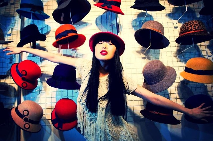 Yomiko Chen with hats by Shevlin Millinery @ Showcase 2013