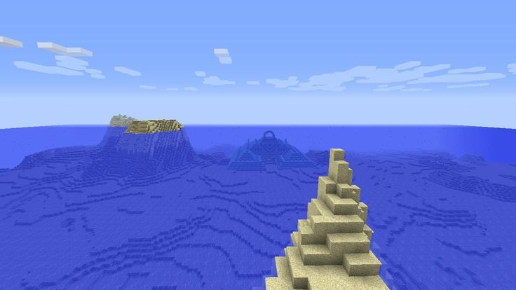 Minecraft Survival Island Seed 1.8.2 with Ocean Momument