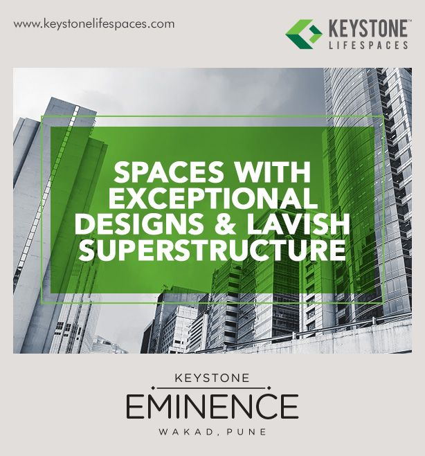 Keystone Eminence - Spaces with exceptional designs & lavish superstructure www.keystonelifespaces.com #wakad #commercial #Office #Industry