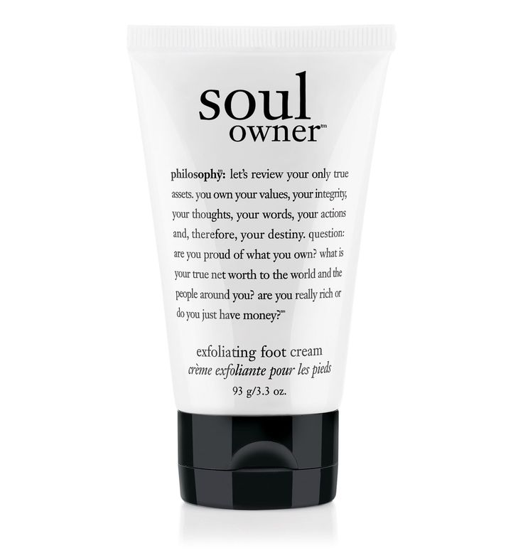 soul owner exfoliating foot cream  No grocery store feet here.