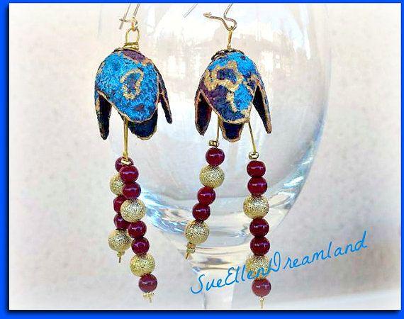 Affordable Handmade Silk cocoon earrings by SueEllenDreamland