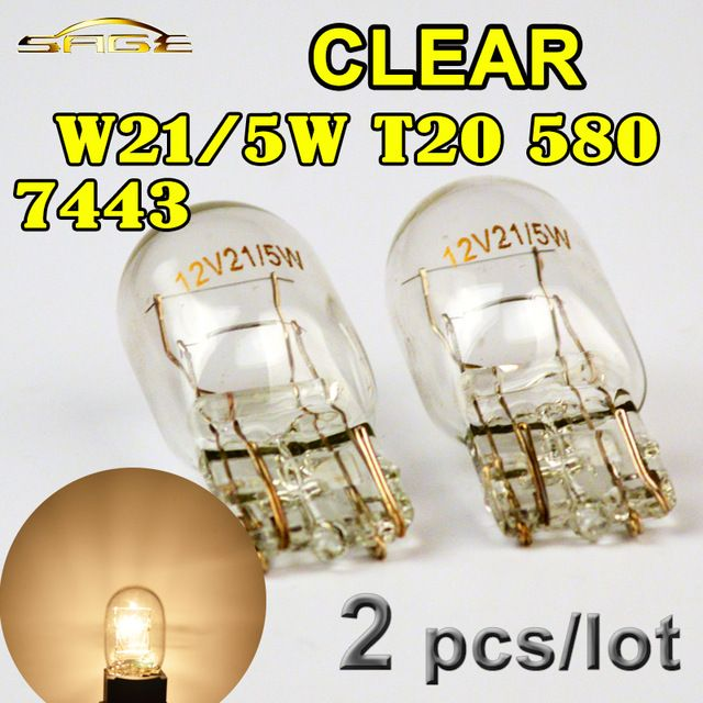 Hippcron T20 7443 580 W21 5w Clear Glass Car Signal Lamp 12v 21 5w W3x16q Auto Light Bulb 2 Pcs Review Car Lights Light Bulb Clear Glass