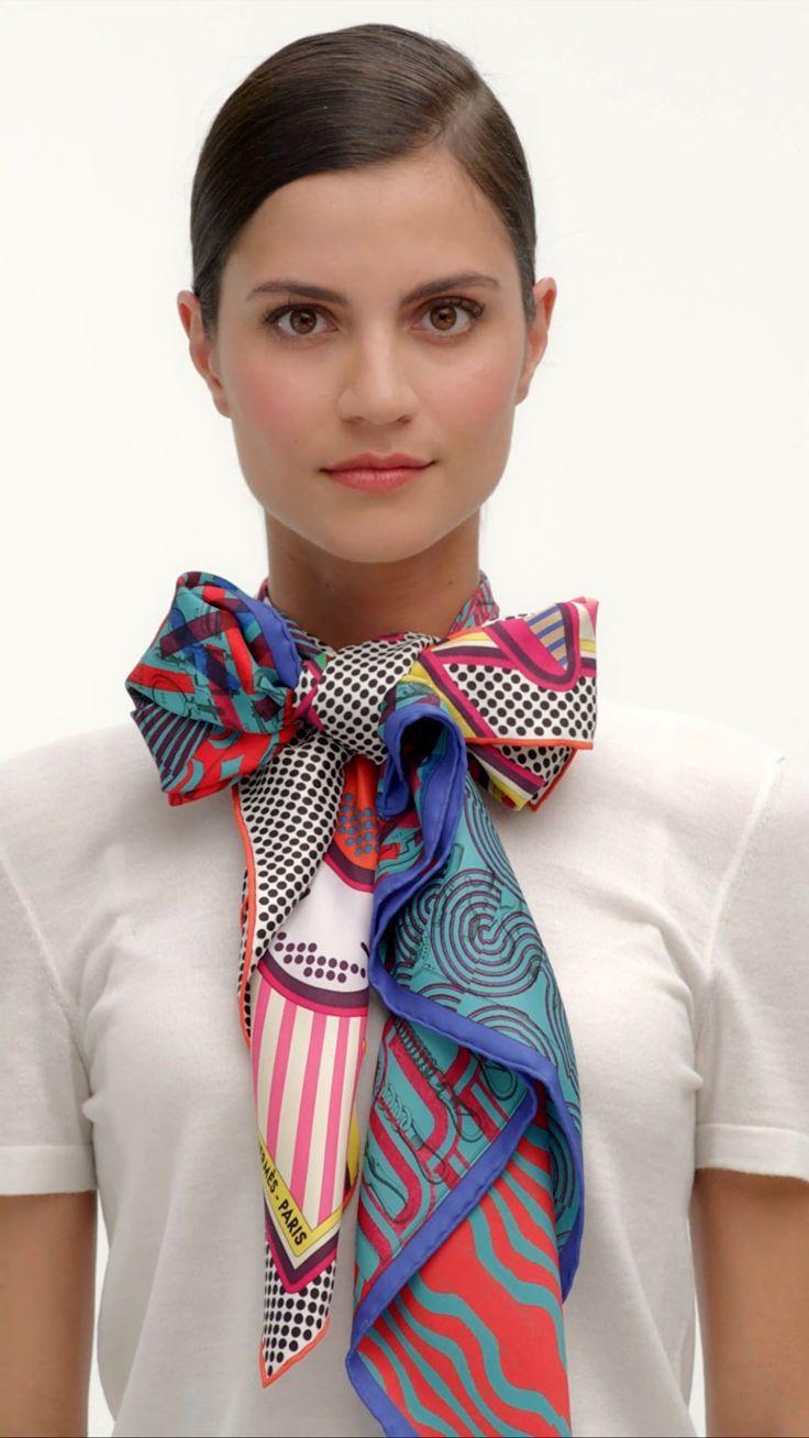 13960ee44 Hermès Silk Knots - Twin Scarf Lavallière | Uniforms in 2019 | Scarf ...