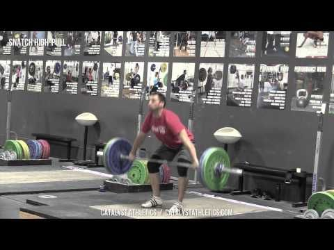 Snatch High-Pull - Exercise Library: Demo Videos, Information & Terminology - Catalyst Athletics Olympic Weightlifting