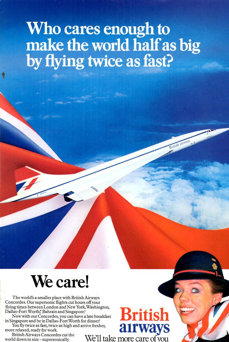 vintage british airways | Vintage Travel Posters by Air, Land & Sea. / British Airways Concorde ...