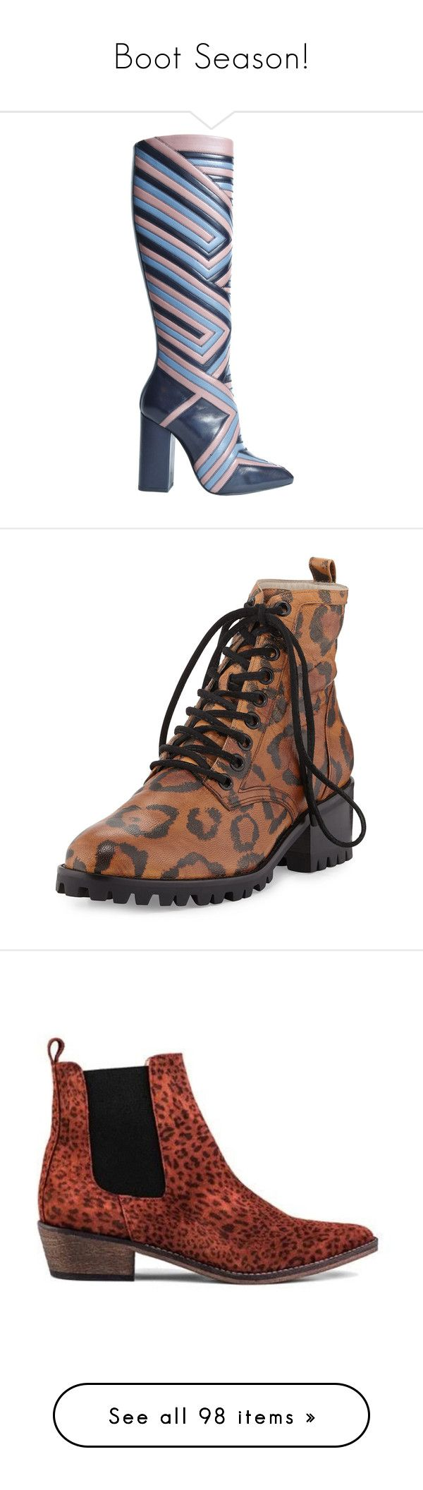 """Boot Season!"" by lindaweldon ❤ liked on Polyvore featuring shoes, boots, ankle booties, ankle boots, leopard, lace up bootie, lace up ankle boots, combat boots, leopard print booties and military boots"