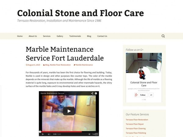 Marble Maintenance Service Fort Lauderdale