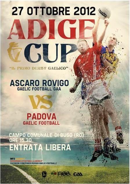 La locandina ufficiale della 1a Adige Gaelic Cup del 27.10.2012