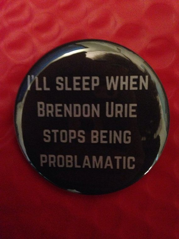 Brendon Urie 2.5 Inch Pinback Button by SarcasticSister on Etsy