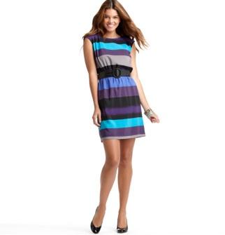 Ombre Stripe Dress - Ann Taylor Loft