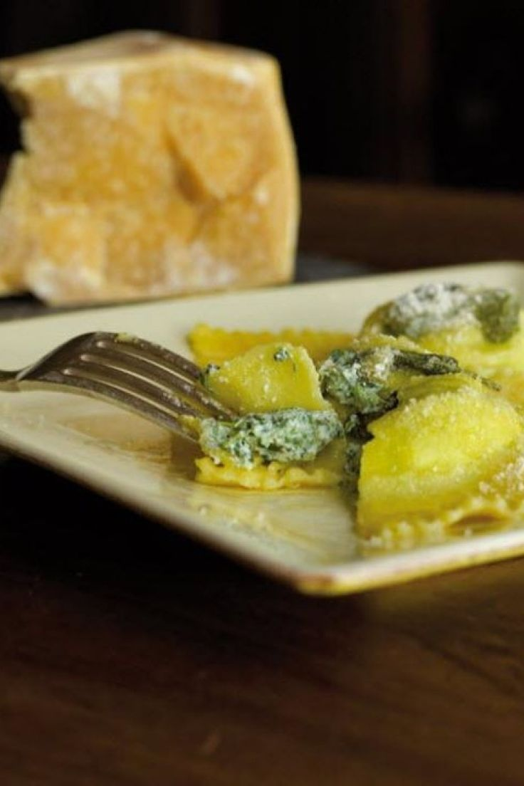 Tortelli with ricotta and spinach. Spinach and Ricotta