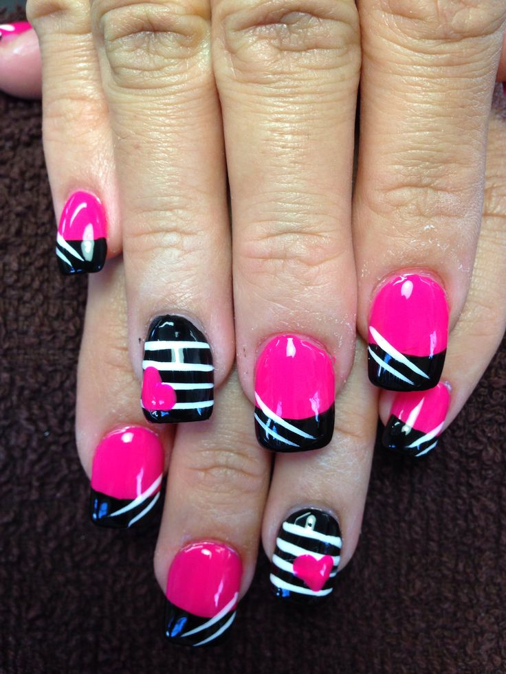 22 best nail design inspiration images on pinterest nail art pink and black with little bit of nail design my nails today done at pretty prinsesfo Images