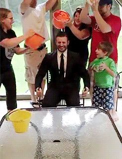 Chris Evans-Ice bucket challenge. IF YOU HAVENT SEEN THIS YOU NEED TO WATCH IT. ITS A BEAUTIFUL THING