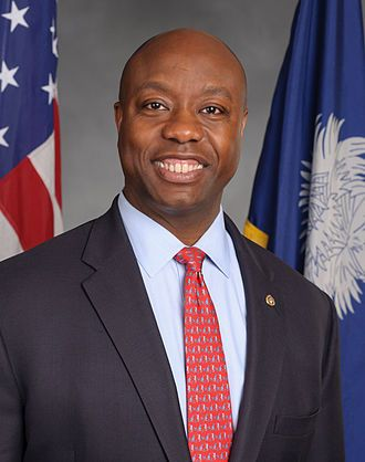 """Tim Scott  Timothy Eugene """"Tim"""" Scott (born September 19, 1965) is the junior United States Senator for South Carolina and a former member of the United States House of Representatives for South Carolina's 1st congressional district. A Republican, he became a senator in 2013 after South Carolina Governor Nikki Haley named him to fill the U.S. Senate seat vacated by Jim DeMint.[5] He was elected to the House in November 2010 to the 112th Congress and served from 2011 to 2013. The first…"""