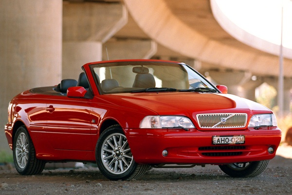 Volvo C70 Convertible.  Yes, definitely the red!!  Maybe white upholstery??