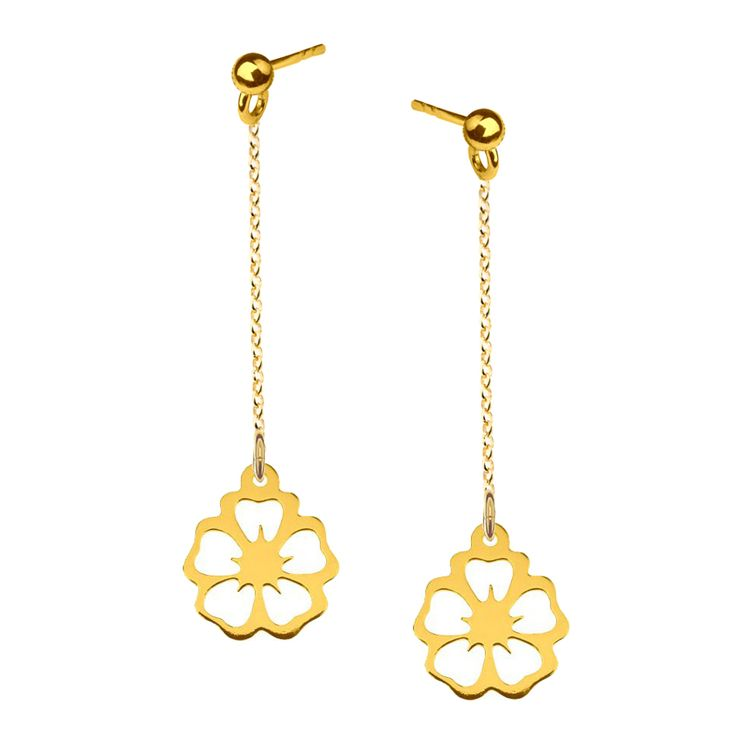 Sterling silver earrings with Hawaii Flower from Filigree.pl. Click on the photo to go to our store!
