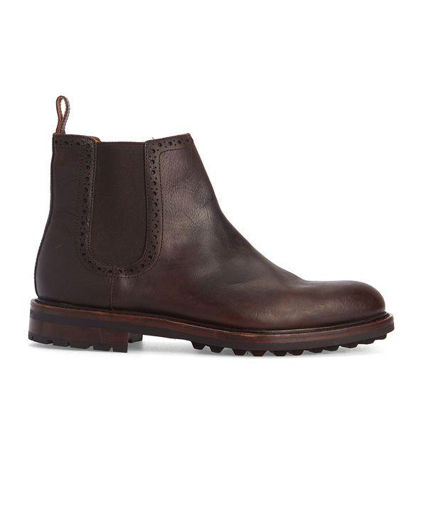 Chelsea Boots Commando Sole Cuir Marron POLO Ralph Lauren