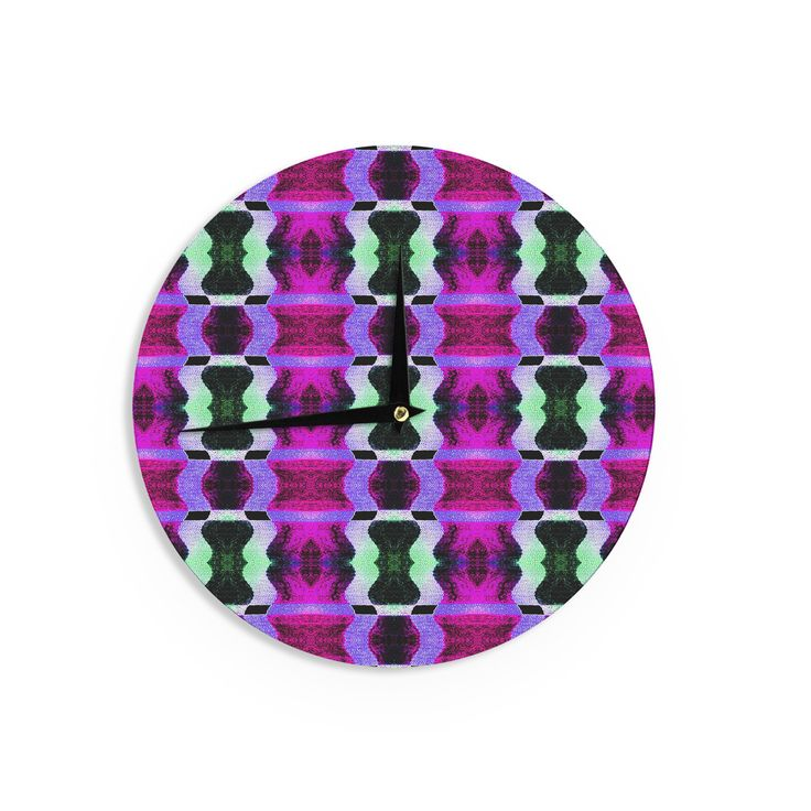 """Anne LaBrie """"High Vibrations"""" Magenta Purple Wall Clock"""