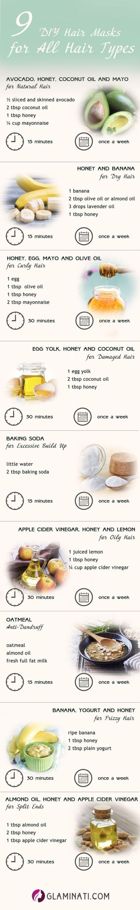 DIY hair masks are great tips for achieving beautiful hair!