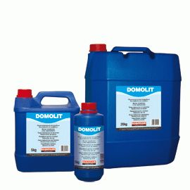 DOMOLIT (former ASOLIT): Mortar plasticizer and setting retarder. Replaces lime. Certified with the CE marking as air entraining/plasticizing admixture for masonry mortar according to EN 934-3:T2, certificate number: 0906-CPD-02412007.
