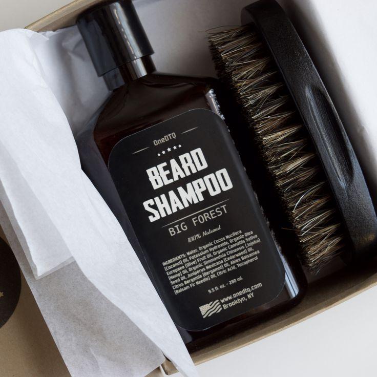 Beard Care Kit: Big Forest Beard Shampoo & Beard Brush