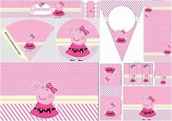Miss Peppa Pig: Mini Kit para Imprimir Gratis.