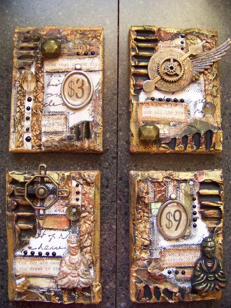 ten thirty-six arts and crafts ... ellen vargo: Mixed Media Canvases