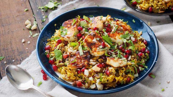 Spiced brown basmati, quinoa and haloumi salad recipe - 9Kitchen