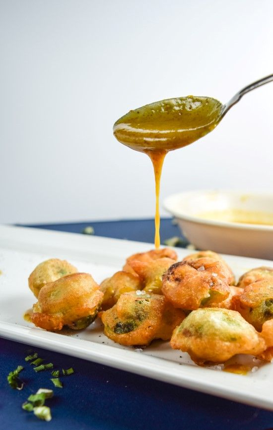 Simple deep-fried Brussels sprouts in a vegan beer batter! Served with maple-mustard dipping sauce.