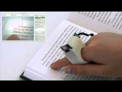 Finger Reader Wearable Text Reading Device from Fluid Interfaces