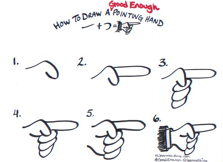Draw a #GoodEnough Pointing Hand #GraphicFacilitation #GraphicRecording #GraphicFacilitator