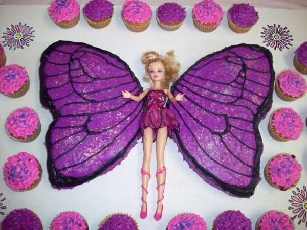 Butterfly Barbie Cake Images : Barbie butterfly cake Birthday Pinterest Barbie ...